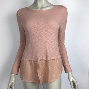 Hailey 23 ModCloth Tunic Top Solid Pink Layered